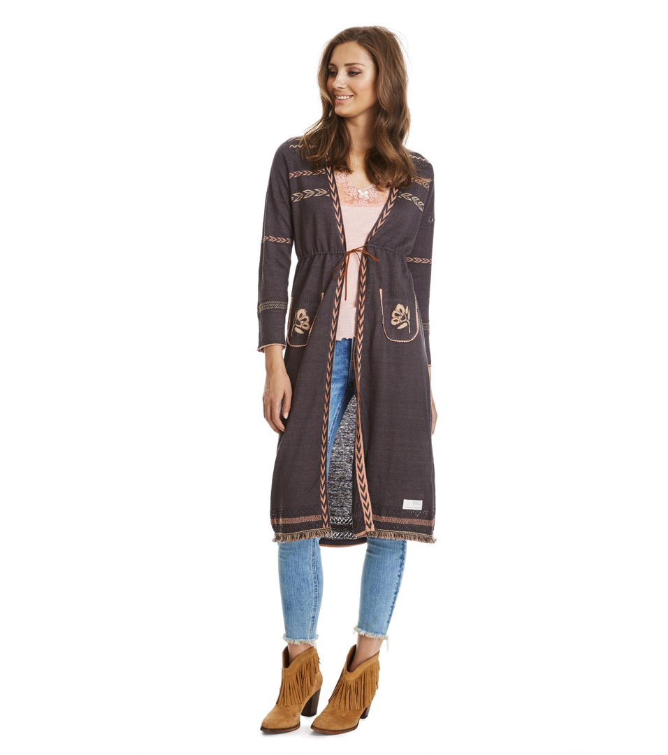 Bungalow Long Cardigan