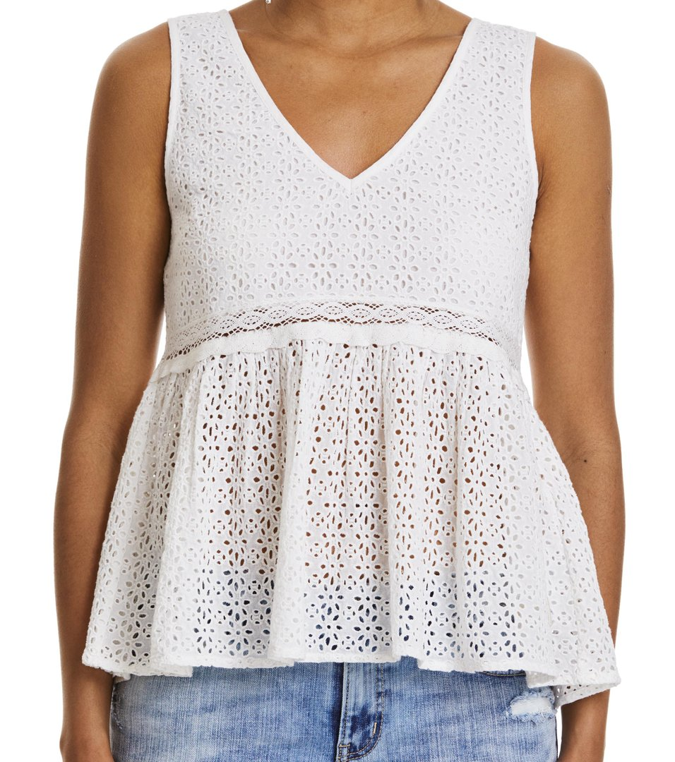solo sleeveless blouse