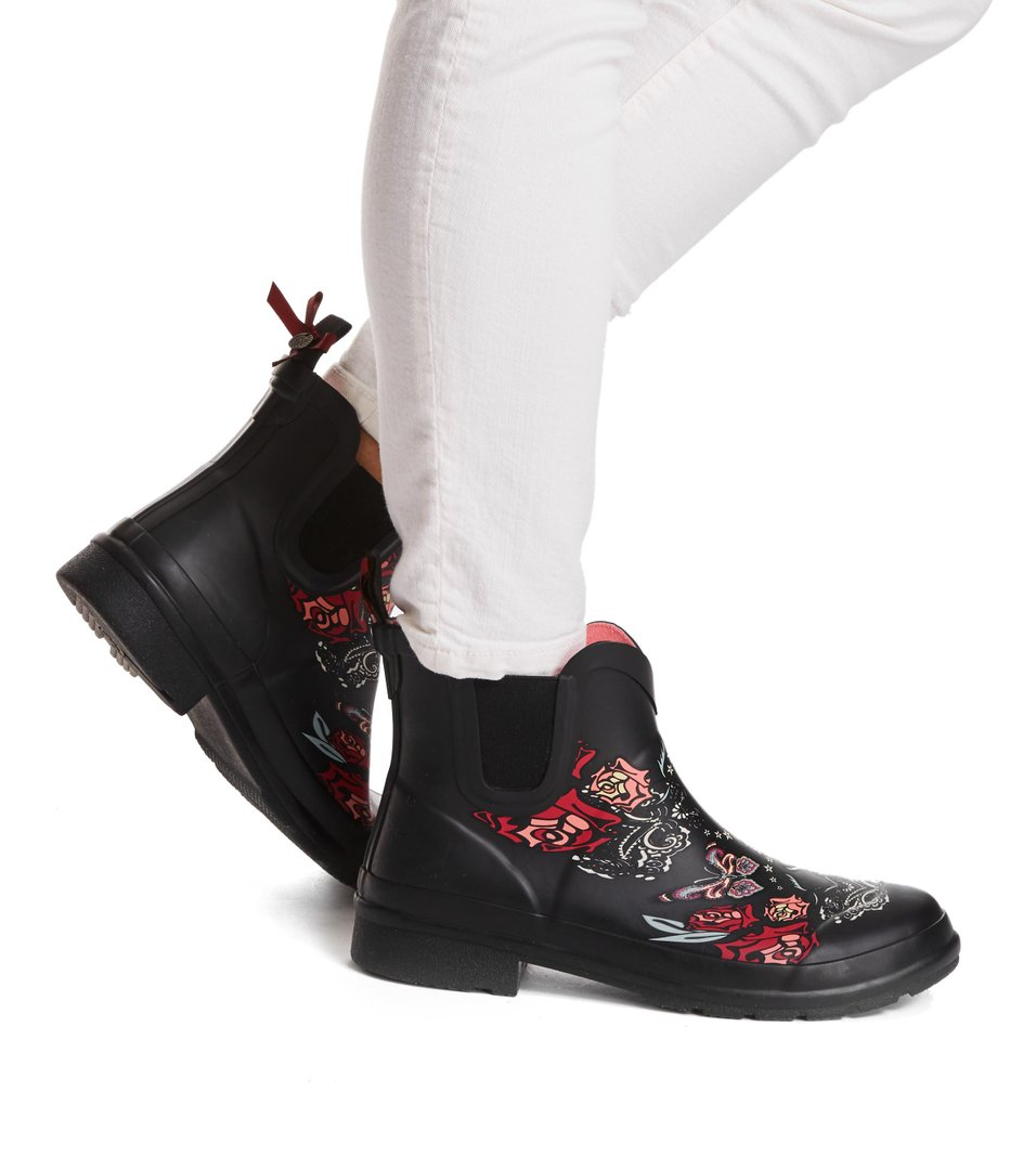Rubber Rose Rainboot