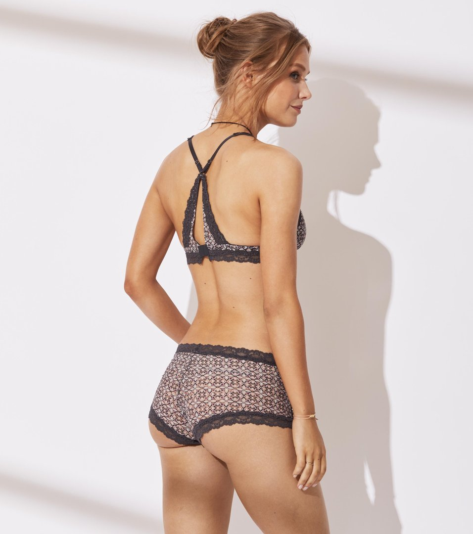 Printed Lace Oddity Hot Pants